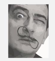 Salvadore Dali portrait