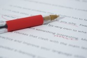 Red pen editing writing