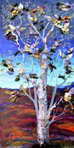 Painting of a tree with birds