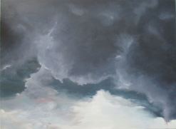 Painting of heavy, dark clouds