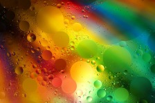 bubbles floating on colorful background