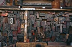 Wood typeset