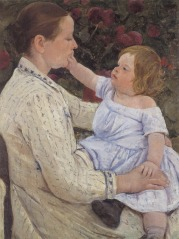 Painting of a woman and child by Mary Cassatt