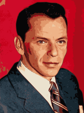 Painting of Frank Sinatra