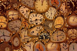distorted clock faces