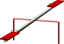 seesaw with red seats