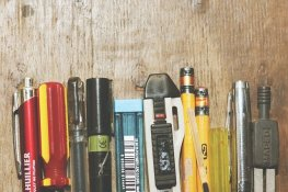 Pencils, pens, markers and other writing tools